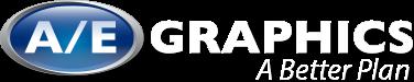 A/E Graphics logo with tagline
